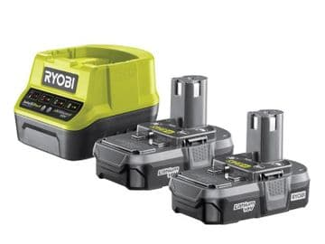 RC18120-213 ONE+ Compact Charger 18V & 2 x 18V 1.3Ah Li-ion Batteries